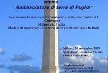 Photo of Le eccellenze pugliesi premiate a Milano