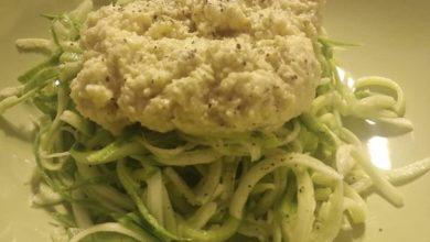 Photo of Toghe&Teglie: tagliolini di zucchine con crema di mandorle