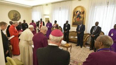 Photo of Christmas message to the South Sudanese political leaders jointly signed by Pope Francis, the Archbishop of Canterbury, S.G. Justin Welby, and the ex-moderator of the Church of Scotland, Rev. John Chalmers