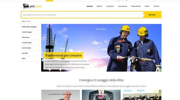 Eni rinnova il proprio sito sul web - Il Patto Sociale