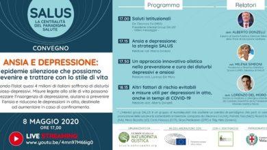 Photo of Prevenire ansia e depressione si può: se ne parla in un convegno (in streaming) del Progetto Salus