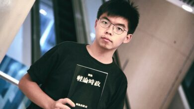 Photo of Hong Kong activist Joshua Wong jailed for thirteen-and-a-half months for anti-government protest